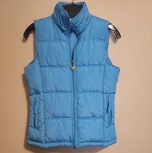 Maurices Women's Blue Puffer Full Zipper Vest Size